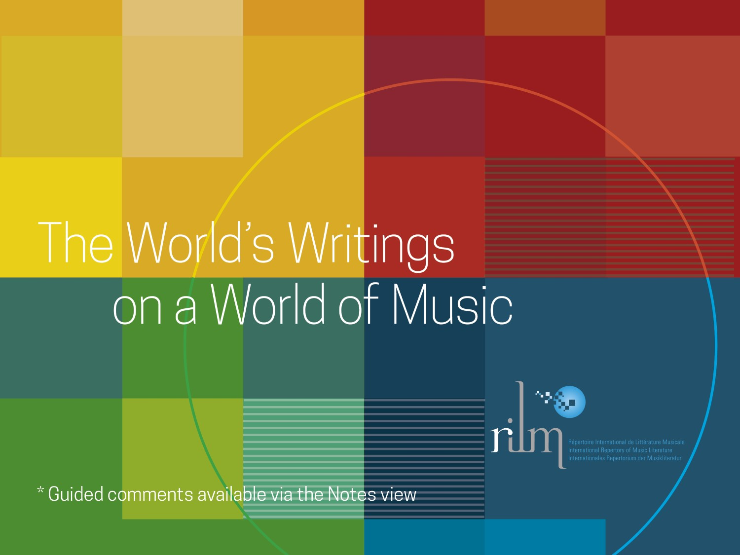 introductory slide of The world's writing on a world music power point