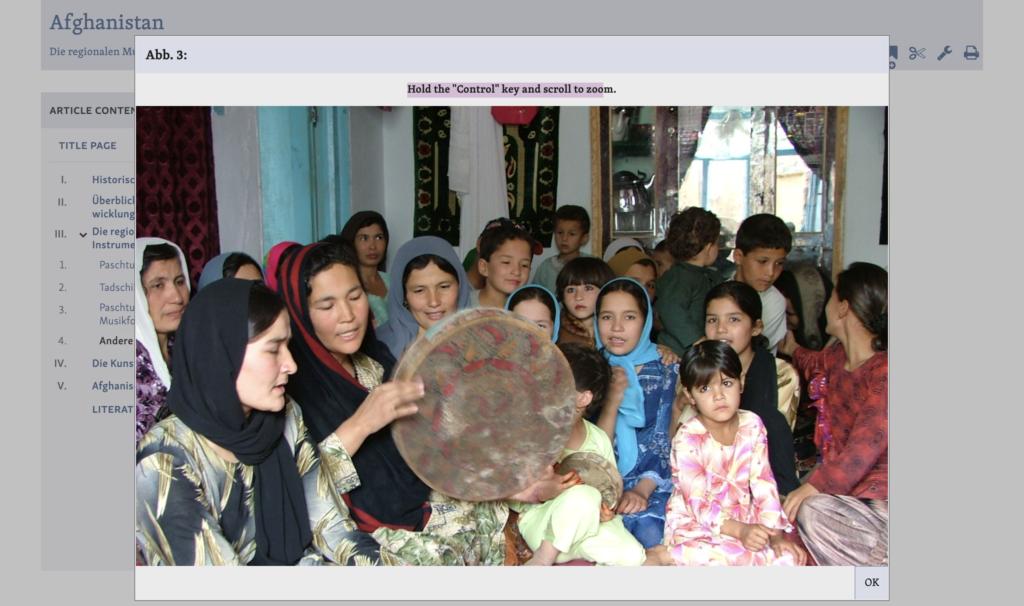 screen shot of mgg online afghanistan article